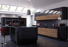 Black Gloss Kitchen Cabinet Doors - Kitchen cabinets have many functions. Black Gloss Kitchen, High Gloss Kitchen Cabinets, Black Kitchen Cabinets, Black Ikea Kitchen, Black Kitchens, Fitted Kitchens, Kitchen 2016, Kitchen Planner, Timeless Kitchen