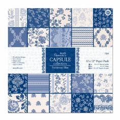 Papermania 12 x 12-inch Capsule Collection Paper Pack, Pack of 32, Parisienne Blue: Amazon.co.uk: Kitchen & Home