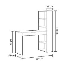 Make Your Own Floating Shelves With This Simple Technique: 8 Steps (with Pictures) Home Beauty Salon, Home Nail Salon, Nail Salon Decor, House Furniture Design, Metal Furniture, Home Furniture, Home Office Table, Home Office Design, Nail Salon Furniture