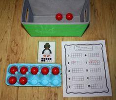 Differentiation Station Creations: Making Ten Frames More Concrete Use egg cartons as ten frames. Brings te ten frames to life! Preschool Math, Math Classroom, Kindergarten Math, Preschool Winter, Montessori, Math Stations, Math Centers, Math Games, Math Activities