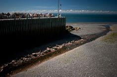 Halls Harbour, Nova Scotia, Canada, low tide, Bay of Fundy.