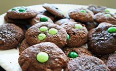Shamrock Brownie Cookies 9