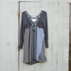 small  large  / Upcycled clothing / Funky Tshirt by CreoleSha, $77.99