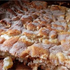 INGREDIENTS: 1 CAN APPLE PIE FILLING 1 BOX ANGEL FOOD CAKE MIX (DRY) SUGAR CINNAMON CARAMEL (OPT)