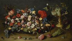 hulsdonck, jacob an elaborate Dutch Still Life, Still Life Fruit, Wild Strawberries, European Paintings, Flower Oil, Old Master, Flower Basket, Magazine Art, Art Market