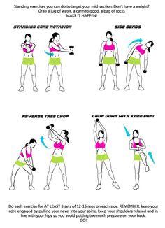 standing core exercises