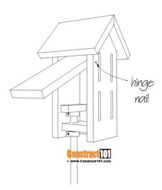 Simple butterfly house plans - pivot nail for door. Wood Shop Projects, Small Wood Projects, Easy Projects, Project Ideas, Craft Ideas, Simple Butterfly, Butterfly House, Bird Houses Painted, Painted Birdhouses
