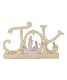 Love this 'Joy' Lighted Figurine on #zulily! #zulilyfinds