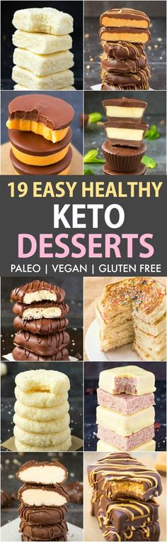 19 Easy Healthy KETO Desserts Recipes (Vegan, Paleo, Gluten Free)- Quick, easy and fool-proof keto dessert recipes which satisfy the sweet tooth, guilt-free! #keto #ketodessert #ketorecipes | Recipe on thebigmansworld.com