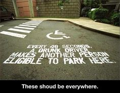 DON'T DRINK AND DRIVE ~ EVER...These should be in more places�