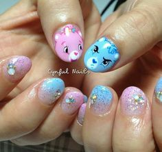 Carebears by cynful nails