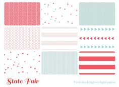 State Fair 9 web tiles & high res digital pape - Luvly Marketplace | Premium Design Resources #seamless #pattern