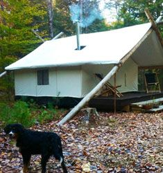 Wiezel trails cabin campground cabin and tyler cabin at for Permanent tent cabins