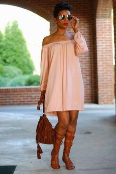 Y'all feeling the slay!? | Melanin model | beautiful black woman | Fashion Style | gladiator shoes