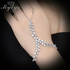 Cheap connected ring bracelet, Buy Directly from China Suppliers:Mytys Fashion Trendy Slave Bracelet Ring Hand Palm Bracelet Connected Finger Ring Zircon Vine Leaf Chain Bracelet with Ring Hand Jewelry, Cheap Jewelry, Jewelry Gifts, Body Jewelry, Diamond Bracelets, Bangle Bracelets, Hand Armband, Fashion Bracelets, Fashion Jewelry