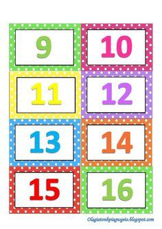 Preschool Education, Preschool Classroom, Classroom Themes, In Kindergarten, Math Numbers, Alphabet And Numbers, Kids Math Worksheets, Preschool Activities, Polka Dot Classroom