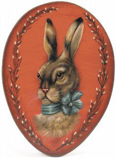 Rabbit portrait from boardwalkoriginals.com.  Wonderful!