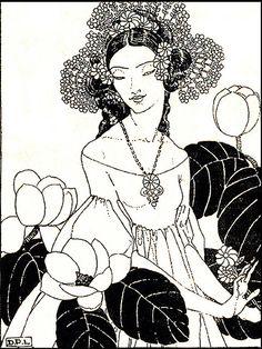 Vintage Fairy Illustration--Dorothy Lathrop--Beauty