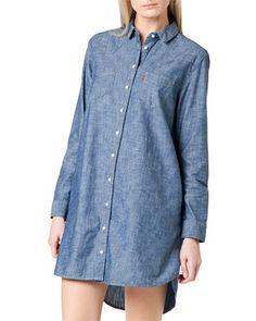 Levi's western shirtdress indigo