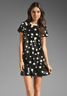 Juicy Couture Sequin Polkadot Dress