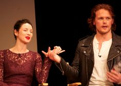 Sam & Caitriona at fan event by Heughligans tumblr