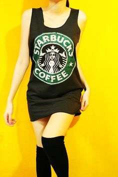 Starbucks Coffee shirt = super cool!