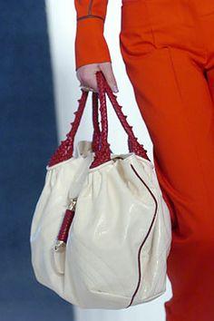 Fendi Spring 2005 white/red handle Spy handbag