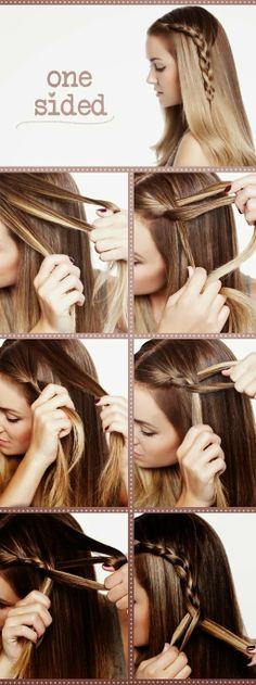 Cute and Easy One Sided Hair Style
