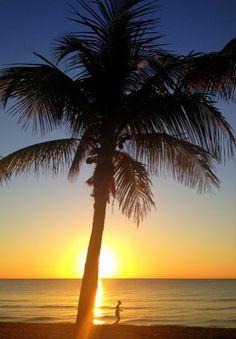 Sunrise on Fort Lauderdale, FL beach @ftlauderdalesun @Andy Royston