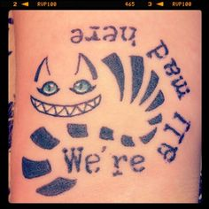my new wrist tattoo cheshire cat alice in wonderland we 39 re all mad here tattoo my tattoo 39 s. Black Bedroom Furniture Sets. Home Design Ideas