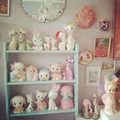 """352 Likes, 14 Comments - Unique boutique of cuteness (@vinnieboyvintage) on Instagram: """"happy shelf of my #favouritethings #shelfie #mylove #myhappy #myhome #prettythings…"""""""