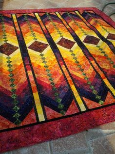 Bargello Quilts, Batik Quilts, Star Quilts, Scrappy Quilts, Quilting Projects, Quilting Designs, Braid Quilt, Stained Glass Quilt, Quilting Board