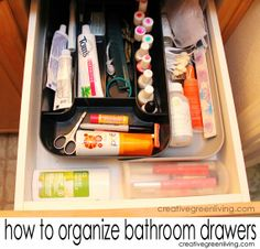 How to organize your bathroom drawers in 30 minutes or less!
