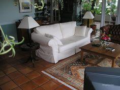Living room tiled floor