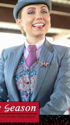 Possible suit color Horse Riding Clothes, Horse Show Clothes, Women Ties, Suits For Women, Horse Suit, Women Wearing Ties, Riding Habit, English Riding, Good Looking Women
