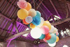 Inspirations mariage Sous Le Lampion : nos plus be - Decoration Papier Wedding Lanterns, Wedding Decorations, Happy Party, Paper Lanterns, Paper Design, Nursery Decor, Wedding Day, Wedding Paper, Birthday Parties