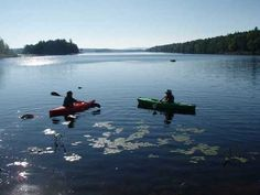 Kayaking near Nicatous Lodge - a Maine Sporting Camp.