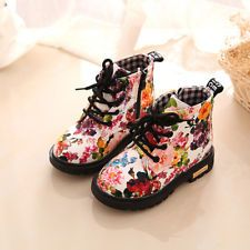 cute baby kids snow boots floral martin boots PU leather shoes for children  boys girls causal fashion boots shoes hot 121909952c31
