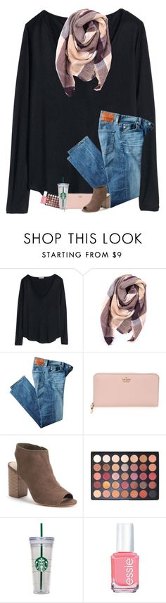 """""""My Lilly skirt came in today!!"""" by sanddollars ❤ liked on Polyvore featuring H&M, Everest, AG Adriano Goldschmied, Kate Spade, Apt. 9, Morphe, WALL and Essie"""