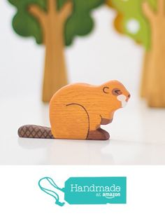 $9.60 Wooden Beaver toy Wildlife animals from Wooden Caterpillar Toys https://www.amazon.com/dp/B071FWYNYT/ref=hnd_sw_r_pi_dp_-KO1zb4Y715M1 #handmadeatamazon