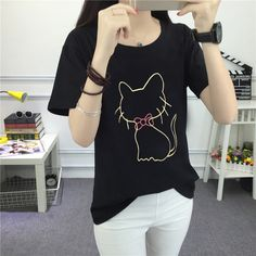 2017 Cut  logo T shirt Women  Lovely casual  Shirt Good Quality Comfortable Brand Shirts Soft Tops #Affiliate