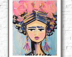 Frida Kahlo pintura óleo sobre lienzo retrato por DevinePaintings
