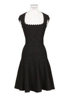 AZZEDINE ALAÏA BLACK AND BROWN DRESS