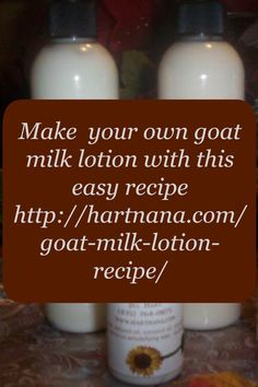 This goat milk lotion recipe is simple and makes a great gift. You only need a couple ingredients to make a lovely and moisturizing lotion. http://hartnana.com/goat-milk-lotion-recipe/