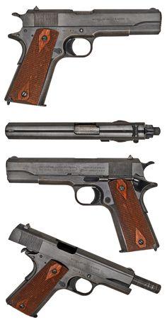 Colt - big, heavy, old and beautiful 1911 Pistol, Colt 1911, Revolver, Weapons Guns, Guns And Ammo, Rifles, Fire Powers, Military Guns, Cool Guns
