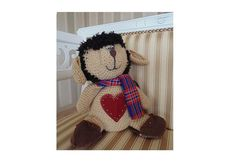 interior toy decor knitted home plush doll  by CuteGiftStudio