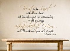 Trust in the Lord | Wall Decals - Trading Phrases BATHROOM
