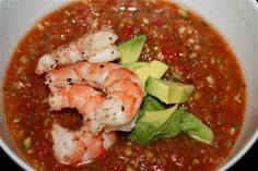 Looking for a refreshing and wonderful Gazpacho recipe? Look no further because Ina's Gazpacho recipe is sure to win you over. Appetizer Salads, Appetizers, Roasted Cauliflower Head, Soup Recipes, Cooking Recipes, Gazpacho Recipe, Mouth Watering Food, Salad Sandwich, Summer Recipes