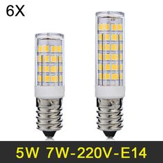 E14 LED Lamp 5W 7W Mini LED Light SMD2835 LED Bulb 220V 240V Lampada LED Corn Light For Fridge Refrigerator Chandelier 6pcs/lot
