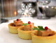 Tartelettes Foie gras de canard et pommes caramélisées au cidre